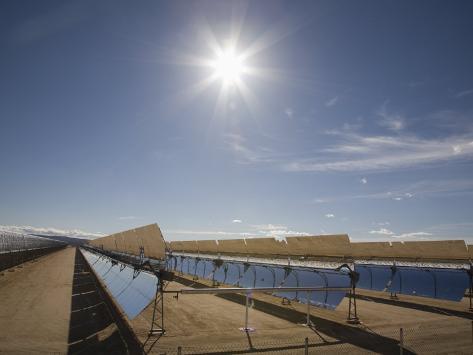 Solar Panels for Electricity Generation, Mojave Desert, California, USA Photographic Print