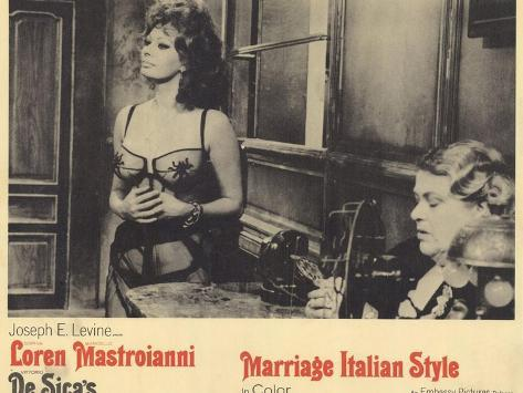 Marriage - Italian Style, 1965 Konstprint