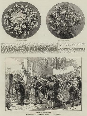 Marriage of Princess Louise at Windsor Stampa giclée