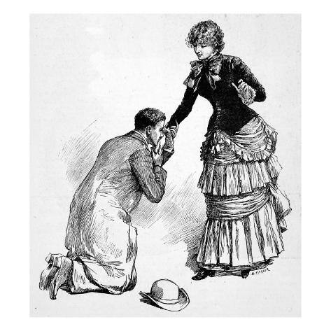 Marriage Proposal Giclee Print