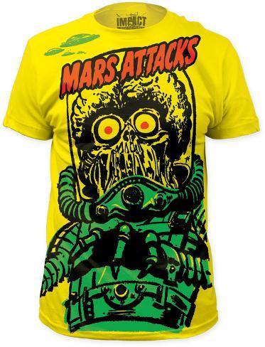 Mars Attacks - Big Yellow Martian (Slim Fit) T-Shirt