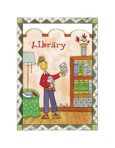 Rooms, Library Art Print