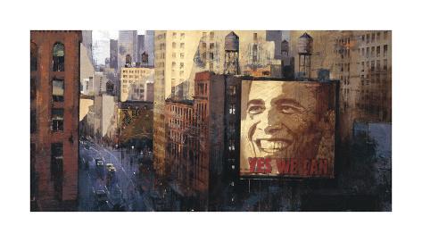 Obama: Moving Forward Giclee Print