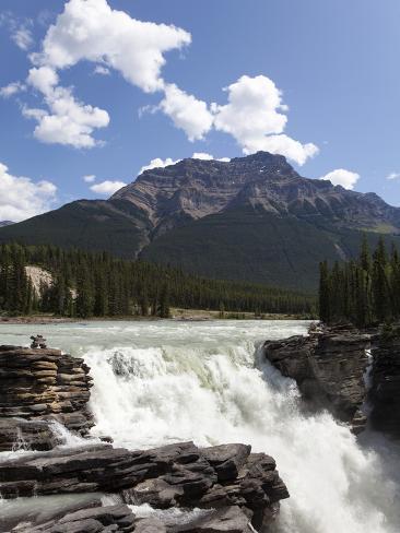 Athabasca Falls, Jasper National Park, UNESCO World Heritage Site, British Columbia, Rocky Mountain Photographic Print