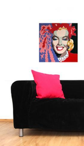 Martin Kreloff Square Marilyn with Black Background Wall Decal
