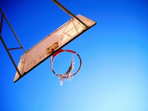 Worn Basketball Hoop, Copenhagen, Denmark Photographic Print