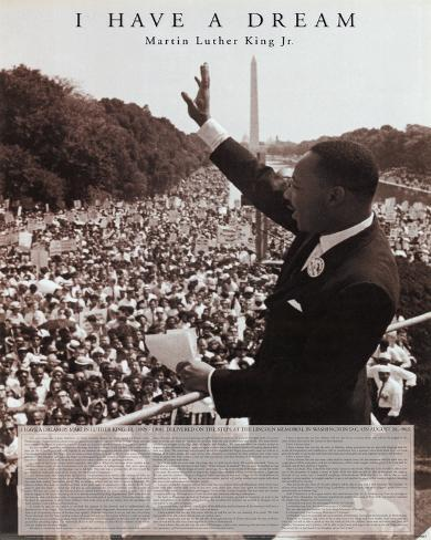 Martin Luther King Jr (I Have a Dream) Art Poster Print Mini Poster
