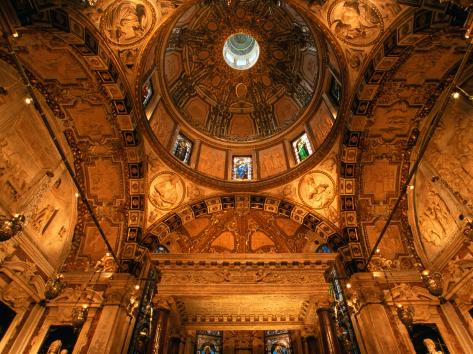 Chapel of St. John the Baptist Inside Cathedral San Lorenzo, Genova, Italy Photographic Print