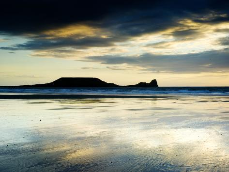 The Worms Head, Gower Peninsula, South Wales Photographic Print