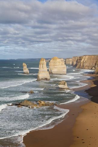 Coastline, 12 Apostles, Great Ocean Road, Port Campbell Np, Victoria, Australia Photographic Print