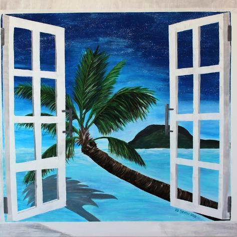 Window to Paradise Beach Art Print