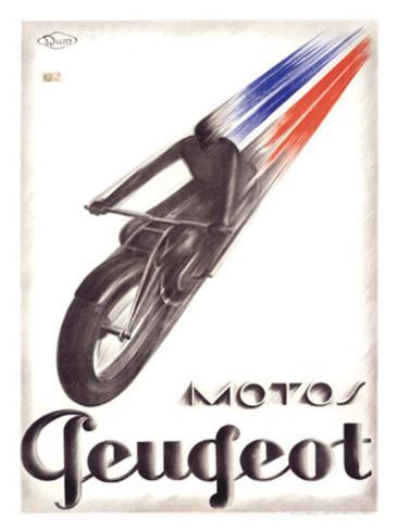 Motos Peugeot Giclee Print