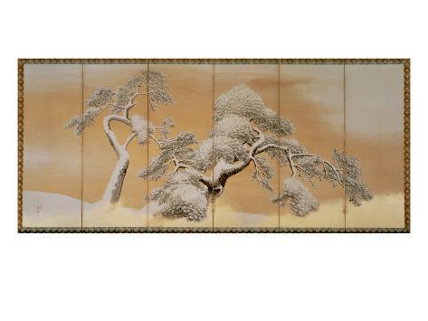 The Pines under Snow Impressão giclée