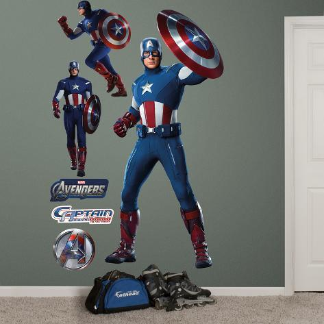 Marvel Captain America Live Action Photo Wall Decal Sticker Wall Decal
