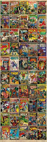 Marvel - Comic Covers Door Poster