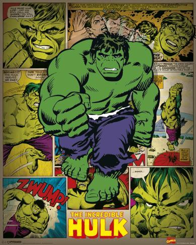 Marvel Comics - Incredible Hulk (Retro) Mini poster