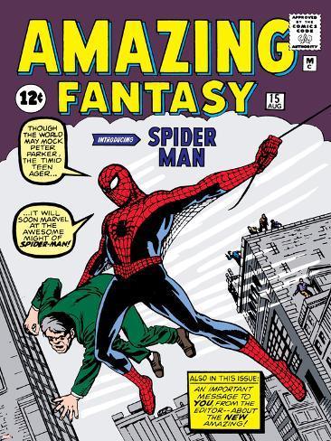 Marvel Comics Retro: Amazing Fantasy Comic Book Cover No.15, Introducing Spider Man Poster