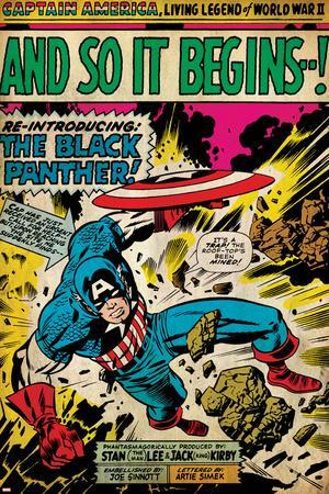 Marvel Comics Retro: Captain America Comic Panel, And So It Begins  !  (aged) Posters at AllPosters com