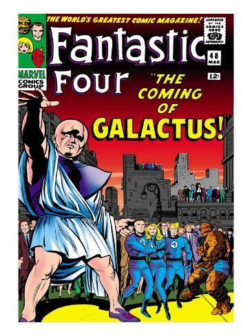 Marvel Comics Retro: Fantastic Four Family Comic Book Cover No.48, The Coming of Galactus Premium Giclee Print