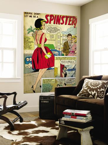Marvel Comics Retro: Love Comic Panel, Spinster (aged) Bildtapet
