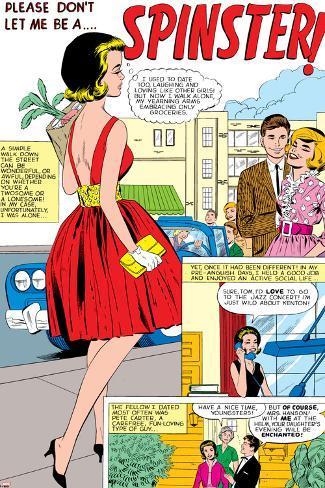 Marvel Comics Retro: Love Comic Panel, Spinster Poster