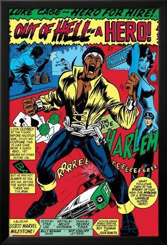Marvel Comics Retro: Luke Cage, Hero for Hire Comic Panel, Screaming ...