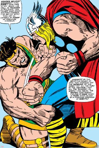 Marvel Comics Retro: Mighty Thor Comic Panel, Hercules Poster
