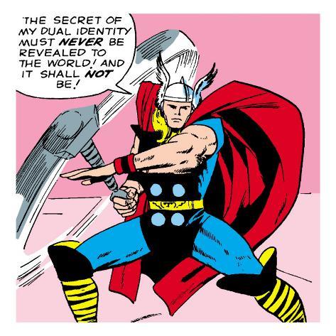 Marvel Comics Retro: Mighty Thor Comic Panel Premium Giclee Print