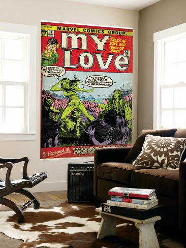 Marvel Comics Retro: My Love Comic Book Cover No.14, Woodstock (aged) Wall Mural