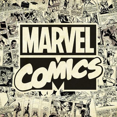 オールポスターズの marvel comics retro pattern design featuring