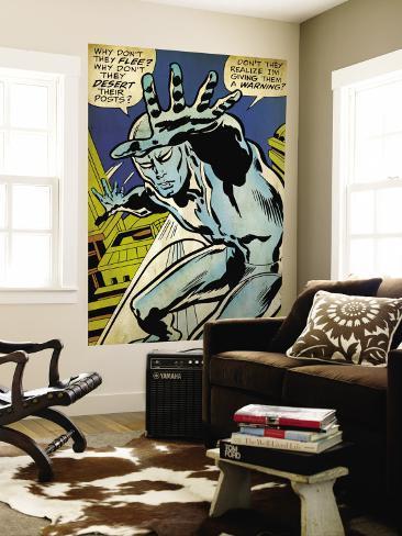 Marvel Comics Retro: Silver Surfer Comic Panel (aged) Övrigt