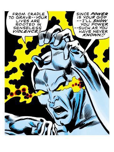 Marvel Comics Retro: Silver Surfer Comic Panel, Unleashing Power Premium Giclee Print