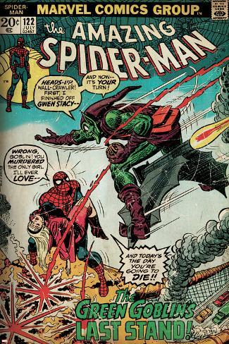 Marvel Comics Retro: The Amazing Spider-Man Comic Book Cover No.122, the Green Goblin (aged) Poster