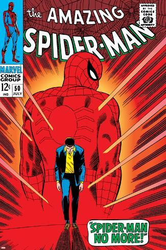Marvel Comics Retro The Amazing Spider Man Comic Book Cover No50 No More
