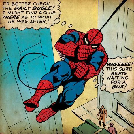 Marvel Comics Retro: The Amazing Spider-Man Comic Panel (aged) Poster