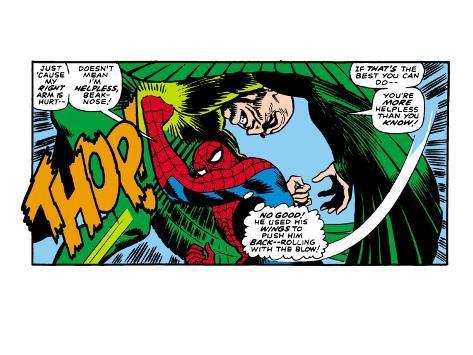 Marvel Comics Retro: The Amazing Spider-Man Comic Panel, the Vulture, Thop! Premium Giclee Print