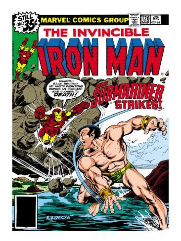 Marvel Comics Retro: The Invincible Iron Man Comic Book Cover No.120; The Sub-Mariner Strikes Premium Giclee Print