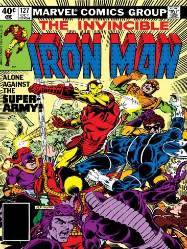 Marvel Comics Retro: The Invincible Iron Man Comic Book Cover No.127, Against the Super-Army! Poster