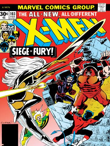 Marvel Comics Retro: The X-Men Comic Book Cover No.103, Storm, Nightcrawler, Banshee & Juggernaut Poster