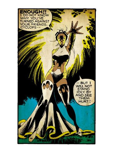 Marvel Comics Retro: X-Men Comic Panel, Storm (aged) Art Print