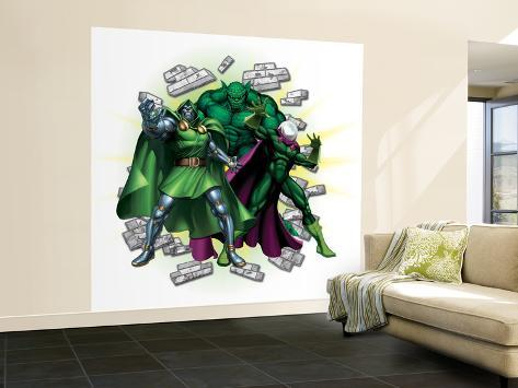 Marvel Heroes Dr Doom Abomination Mysterio Wall Mural Large