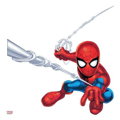 Marvel Super Hero Squad: Spider-Man Shooting Stretched Canvas Print