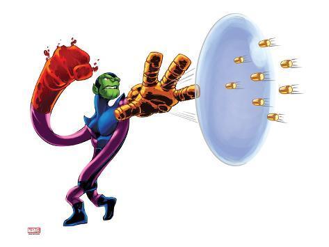 Marvel Super Hero Squad: Super Skrull Transforming Stretched Canvas Print