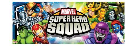 Marvel Super Hero Squad: Wolverine, Thor, Hulk, Iron Man, Loki, Dr. Doom, Sentinel, and Mystique Stretched Canvas Print