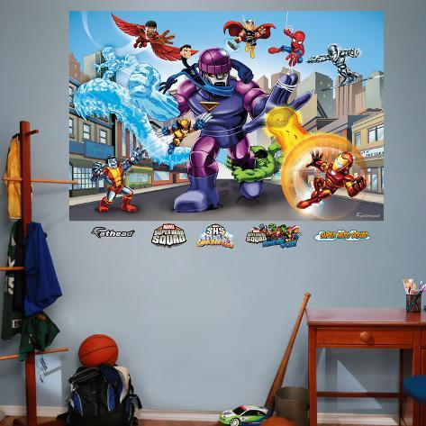 Marvel SuperHero Squad Sentinel Mural Decal Sticker & Marvel SuperHero Squad Sentinel Mural Decal Sticker Wall Decal ...