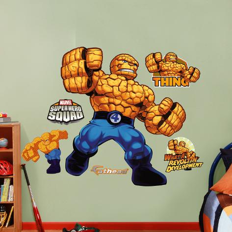 Marvel The Thing Super Hero Squad Wall Decal Sticker Wall Decal - Superhero wall decals uk