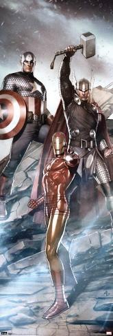 Marvel - Trio Door Poster