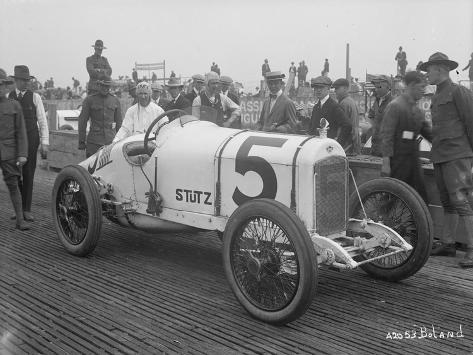 Driver and No.5 Racecar, Tacoma Speedway, Circa 1919 Giclee Print