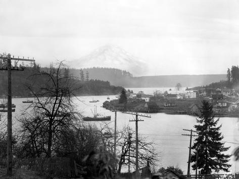 Gig Harbor & Mt. Tacoma, Dec. 26, 1926 Giclee Print