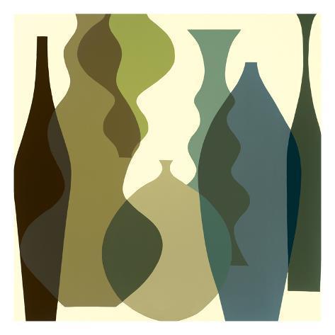 Floating Vases III Giclee Print